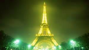 lighted Eiffel Tower