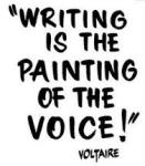 Writing is the painting of the voice