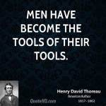 Thoreau quote about tools