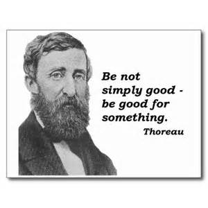 Thoreau quote with photo of him