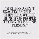 Writers are bunch being one